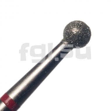 Фреза алмазная шар D-3.1мм мягкая Россия(55)
