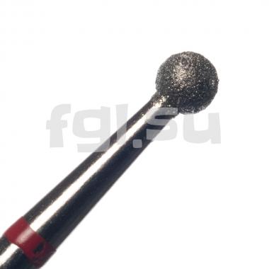 Фреза алмазная шар D-2.7мм мягкая Россия(4)