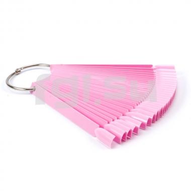 Палитра веер розовая 50дел