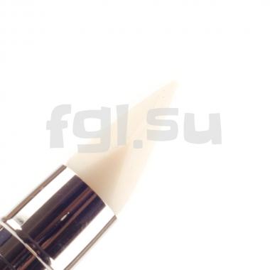 Кисть силиконовая двухсторонняя №6 бирюзовая