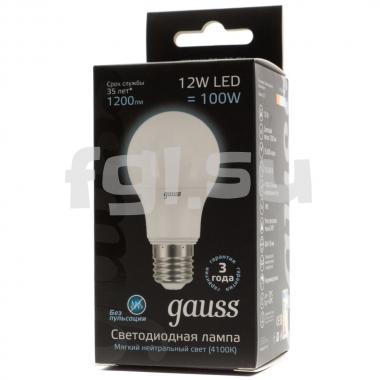Лампочка LED E27 12Вт GAUSS PROF