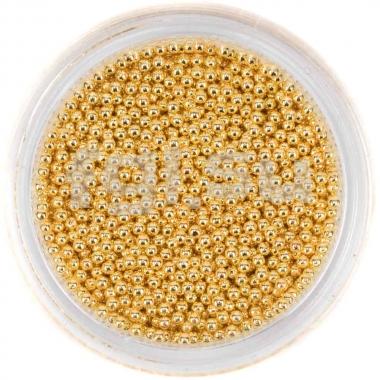 Бульонки металлические золото 1мм