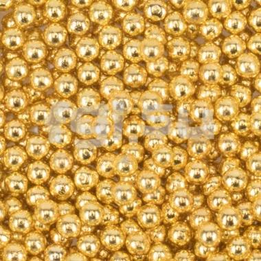 Бульонки металлические золото 0,8мм