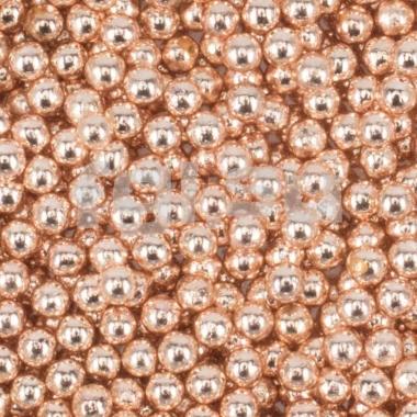 Бульонки металлические розовое золото 0,8мм