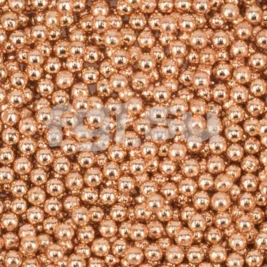 Бульонки металлические розовое золото 0,6мм