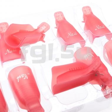Зажимы для снятия гель-лака пластик 10шт