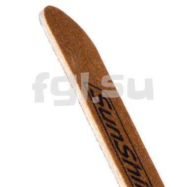 Пилка 100/180 прямая коричневая на деревянной основе SunShine