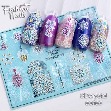 Слайдер-дизайн Fashion Nails 3d crystal18