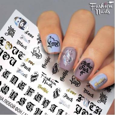 Слайдер-дизайн Fashion Nails g65