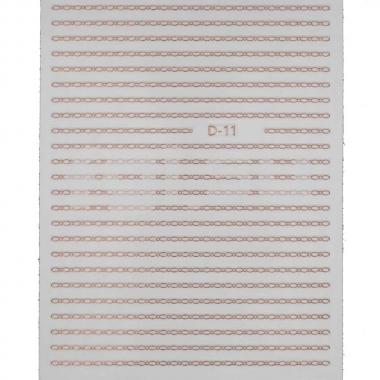 Металлизированная наклейка D11(N17)