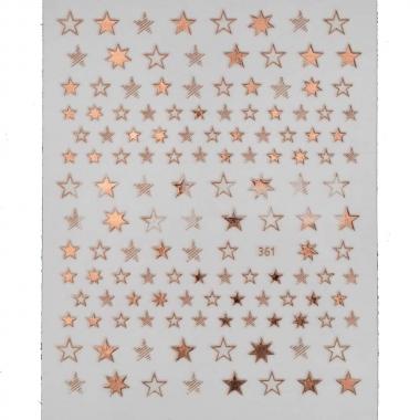 Металлизированная наклейка D361-pink gold(N24)
