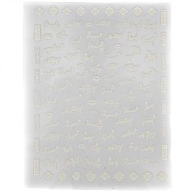 Металлизированная наклейка D116-white(N42)