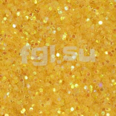 Блестки для дизайна желтые
