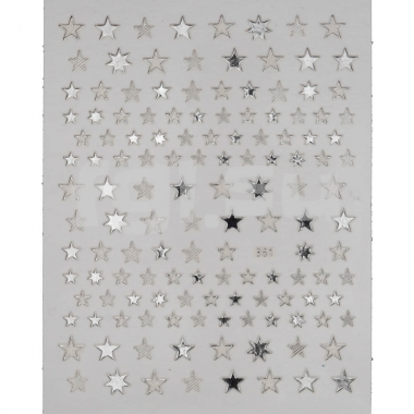 Металлизированная наклейка D361-silver(N21)