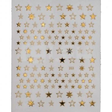Металлизированная наклейка D353-gold(N22)