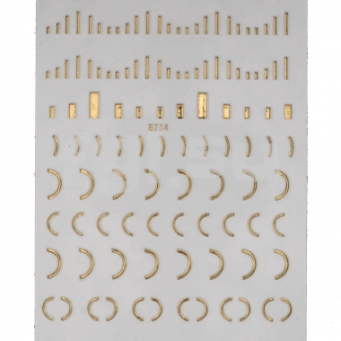 Металлизированная наклейка 8714(N30)