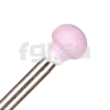 Фреза корундовая шар (розовая) 5мм