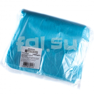Салфетки 40*40 голубые спанбонд (100штук) EleWhite