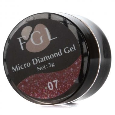 Жидкая слюда Micro diamond gel 010 FGL 5мл