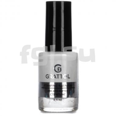 Лак для стемпинга №1 Grattol Stamping White