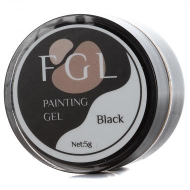 Гель-краска с липким слоем 5мл FGL черная