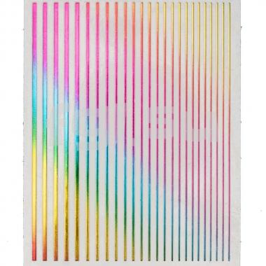 Ленты гибкие разноцветные голографические